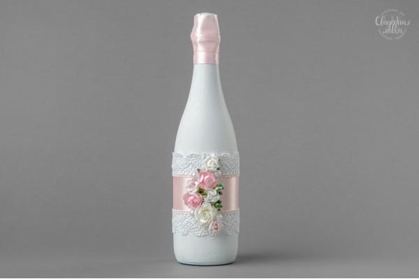 """Украшение на Шампанское """"Розовая нежность"""""""