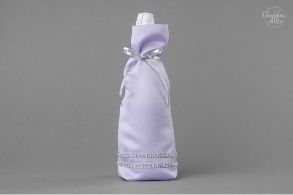 """Украшение на Шампанское """"Серебро и фиолет"""""""