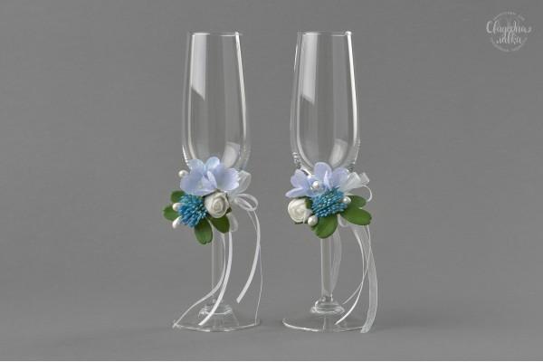 "Свадебные бокалы ""Blue"""