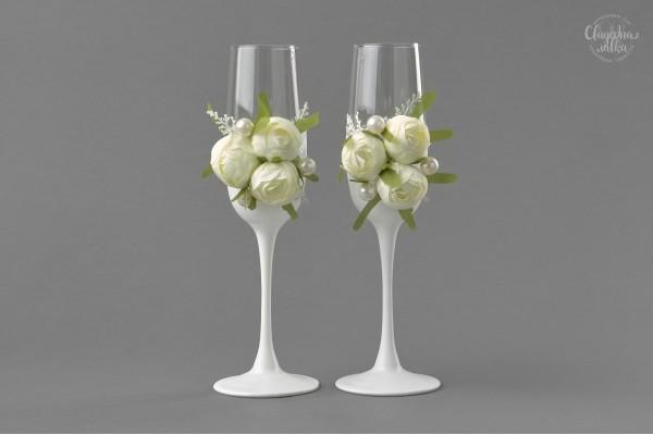 "Свадебные бокалы ""Камелия"""