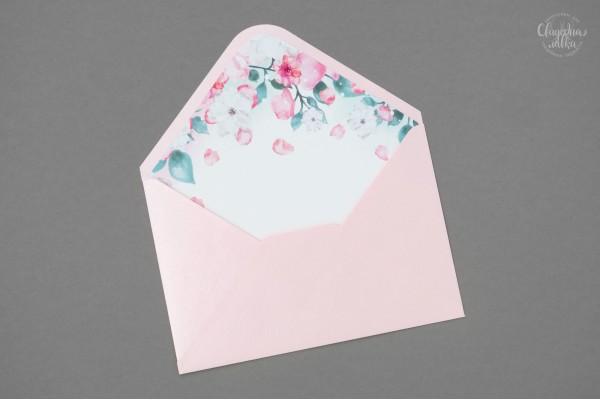 """Конверты для пригласительных """"Нежный розовый"""""""