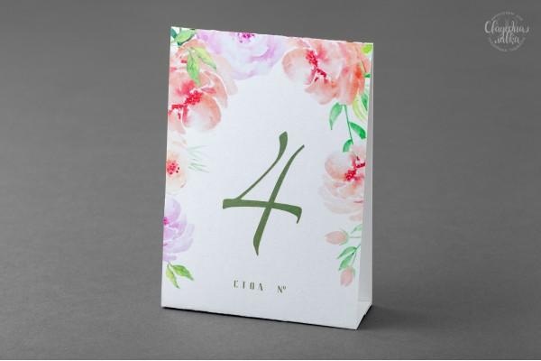Нумерация столов ''Цветы''