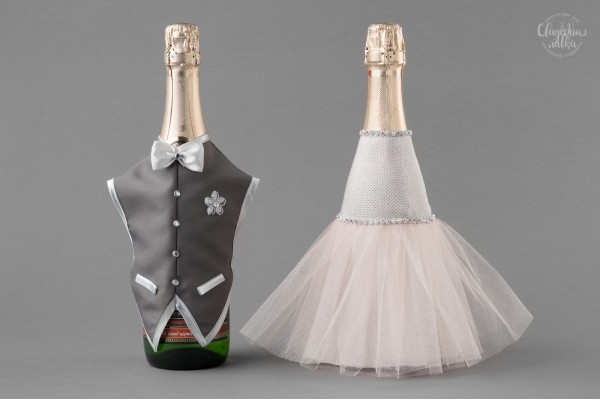 "Одежда на Шампанское ""Розовое серебро"""