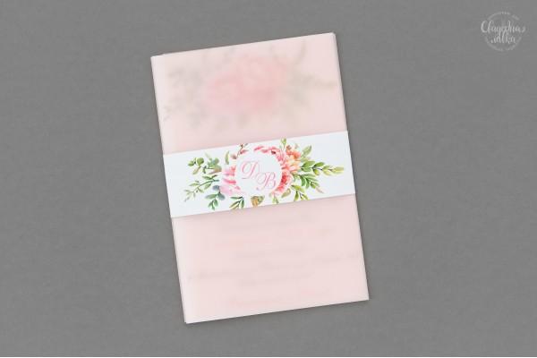 Пригласительное ''Розовые цветы''