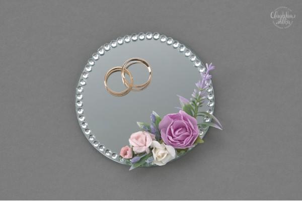 """Тарелочка для колец """"Сиреневые цветы"""""""