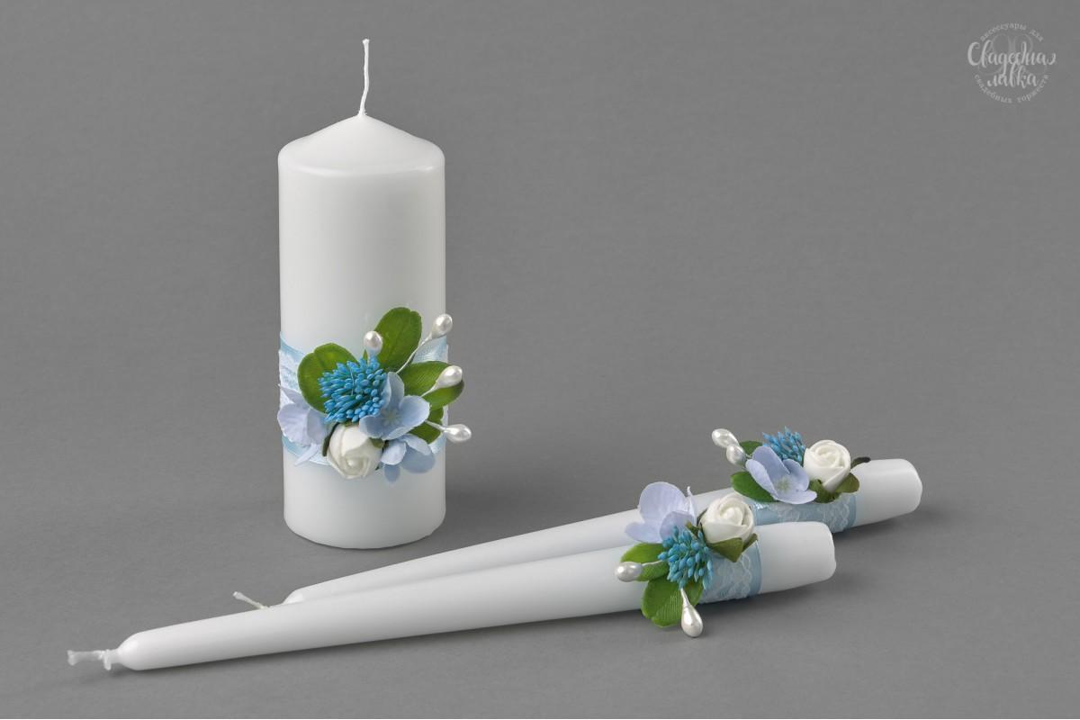 """Свадебные свечи """"Bluе"""""""