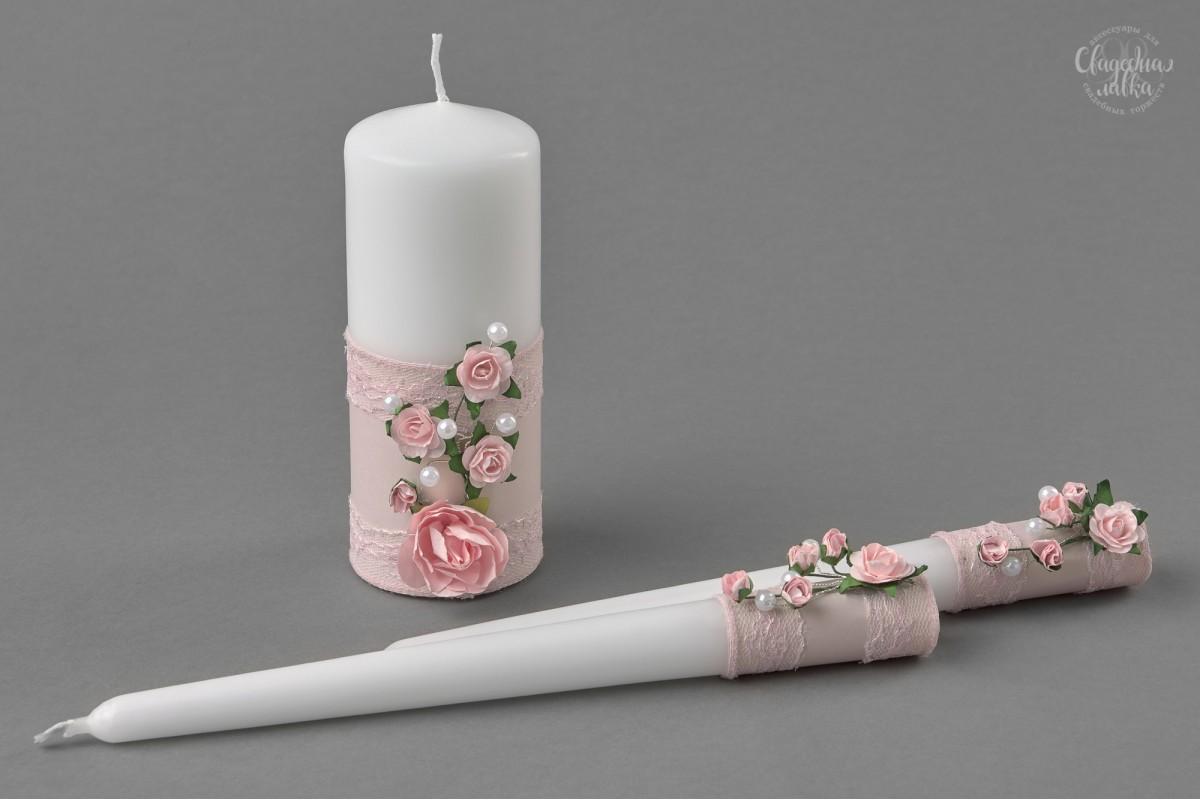 "Свадебные свечи ""Pink"""