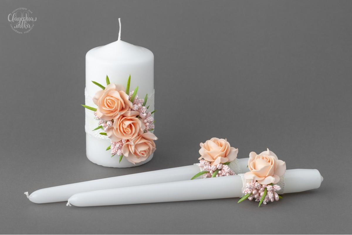 """Набор Свадебных Свечей """"Цветы"""""""