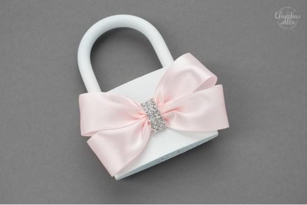 Свадебный замочек ''Розовое серебро''