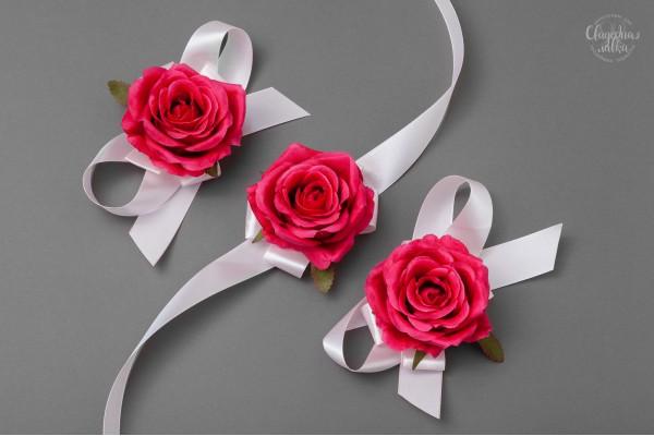 """Браслет подружке Невесты """"Rose fuchsia"""""""