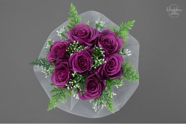 Букет-дублёр из Фиолетовых Роз