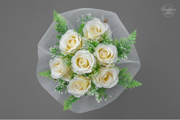 Букет-дублёр из Кремовых Роз
