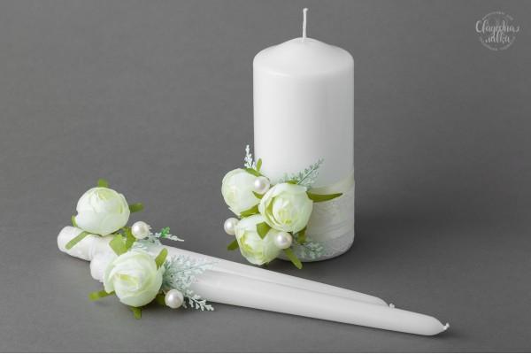 """Свадебные свечи """"Камелия"""""""