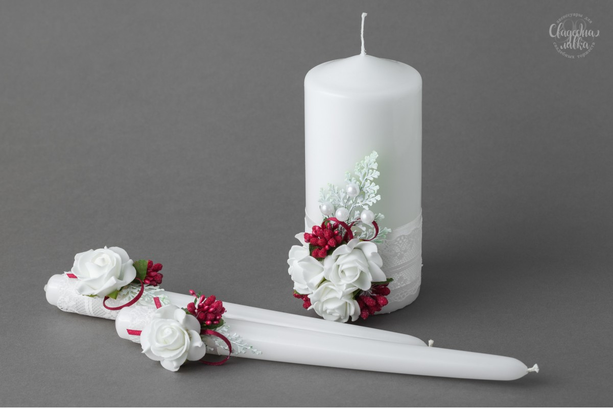 "Свадебные свечи ""Летняя прохлада"""