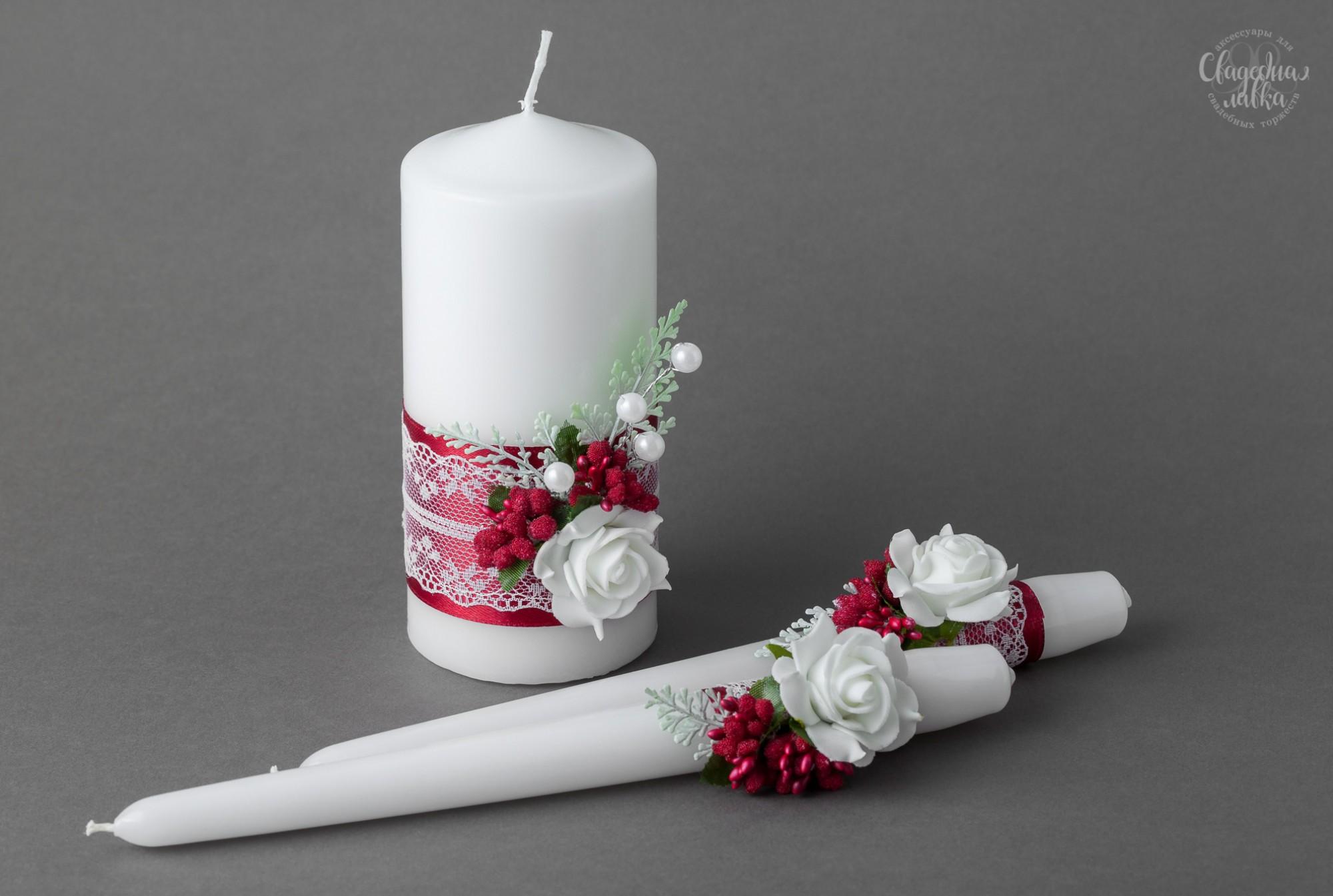 """Свадебные свечи """"Марсала"""""""