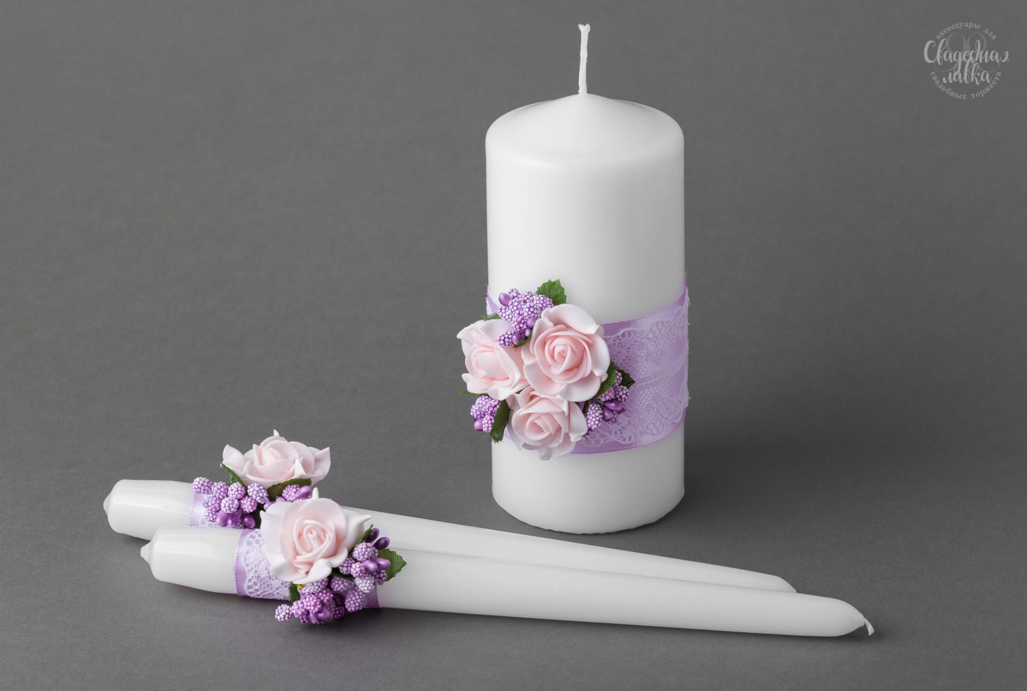 """Свадебные свечи """"Розалия"""""""